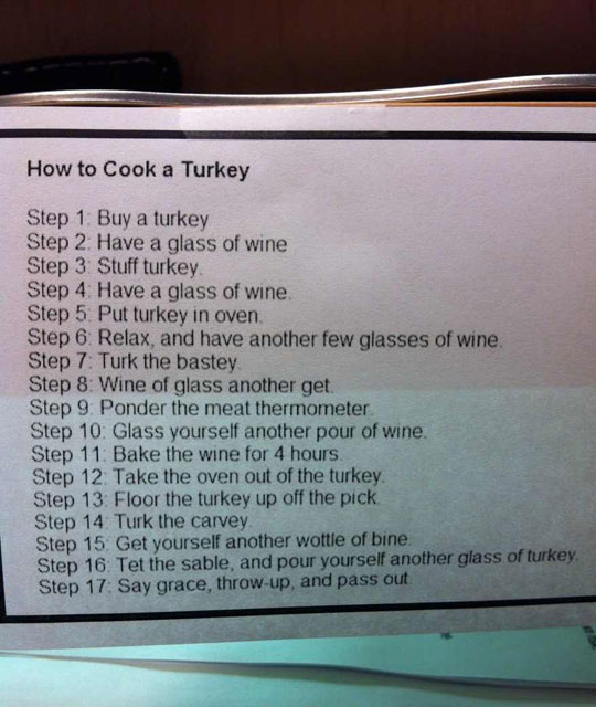 How To Turkey A Cook