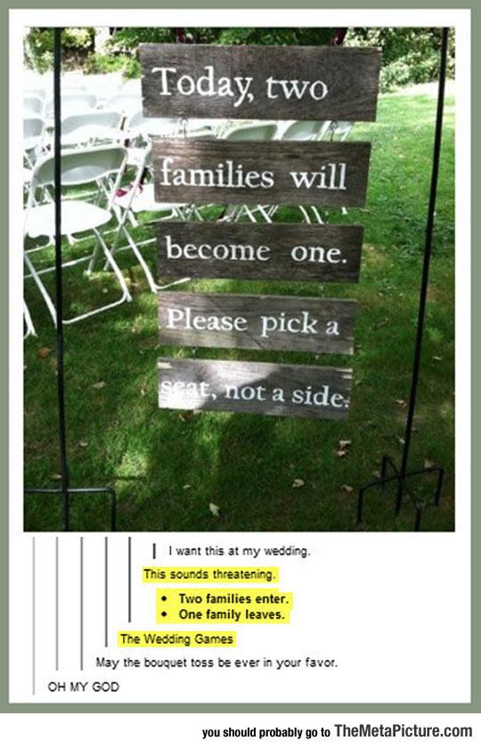 Pick A Seat, Not A Side