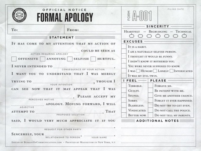 apology letter for hurt feelings samples stupid and apology notes 10 pics 25038 | This is a great idea Everyone should have a few laying around in case their selfish hurtful annoying or offensive side takes over 658x493